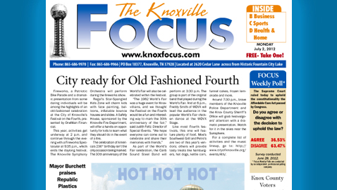 The Knoxville Focus: Monday, July 2, 2012