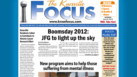 The Knoxville Focus: Monday, July 23, 2012