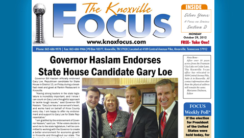 The Knoxville Focus for Monday, October 29