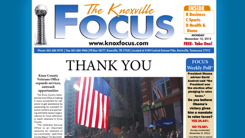 Knoxville Focus for Monday, November 12