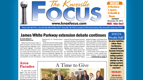 Knoxville Focus for November 26. 2012