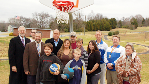 Knox County thanks community partners for basketball goals