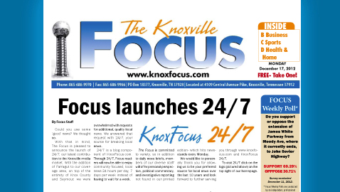 View Knoxville Focus for Monday, December 17