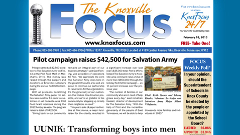 Knoxville Focus for Monday, February 18