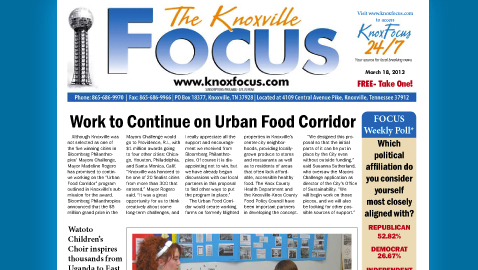 Knoxville Focus for Monday, March 18