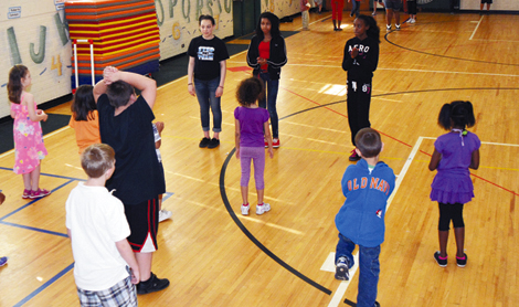Northwest Middle School Leads Step Camp at Norwood Elementary