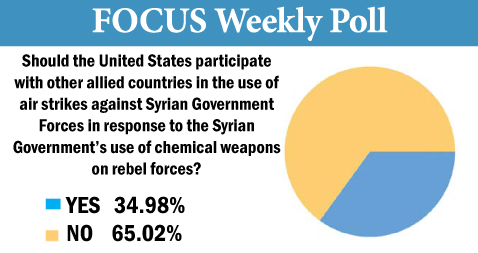 Focus poll for September 3, 2013