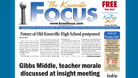 Knoxville Focus for Monday, October 28, 2013