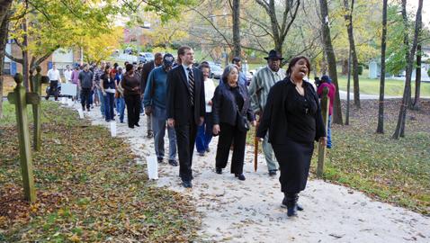 UT, City of Knoxville mark progress of pathways in Historic Cemeteries
