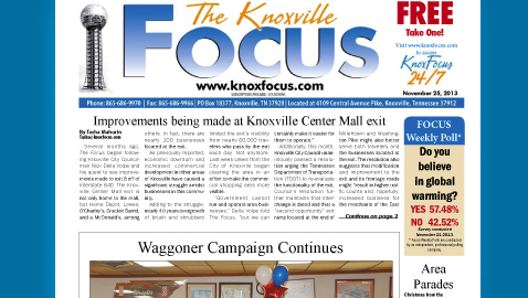 Knoxville Focus for Monday, November 25