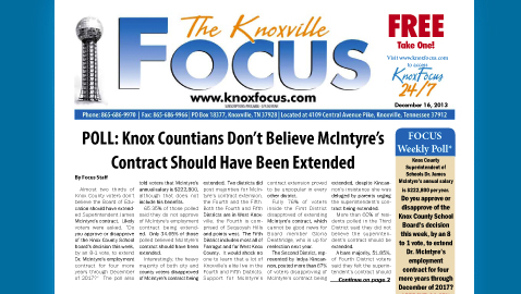 Knoxville Focus for Monday, December 16