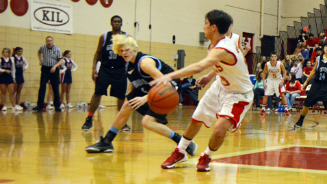 It rains 3s as Red Devils rout Eagles 77-41