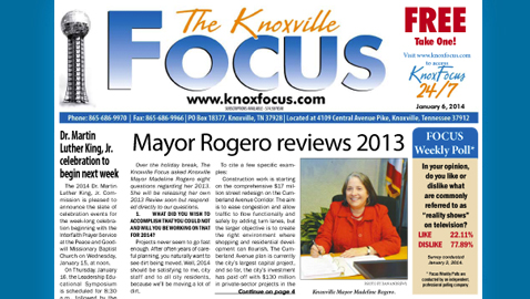 Knoxville Focus for Monday, January 6, 2014