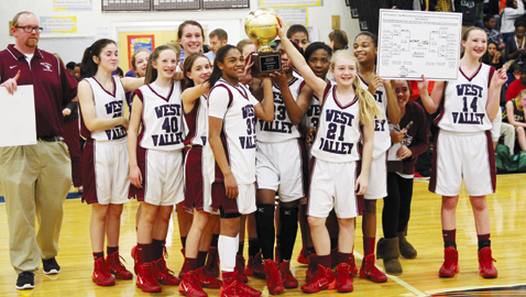 West Valley culminates perfect conference run with tourney title