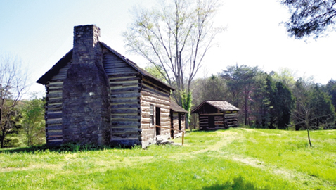 Photo by Mike Steely The John Sevier Cabin at Marble Springs