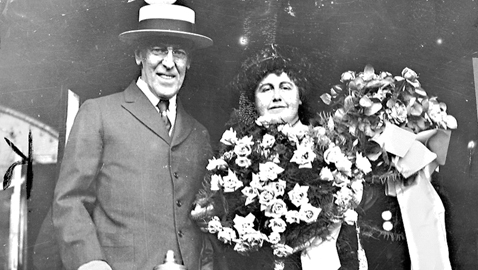 From the author's personal collection. President & Mrs. Wilson in happier days, 1916