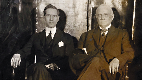 From the author's personal collection. Under Secretary of State Breckinridge Long of Missouri (left) sitting with ex-Speaker of the House Champ Clark, 1920.