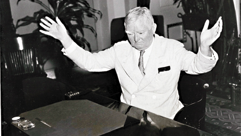 From the author's personal collection. Vice President John Nance Garner of Texas cleans off his desk, 1935.