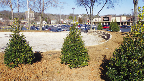 Photo by Mike Steely. The proposed Everly Brothers Park on Kingston Pike in Bearden was recently planted with trees. Apparently all that remains is the park to become officially transferred from the state to the city.