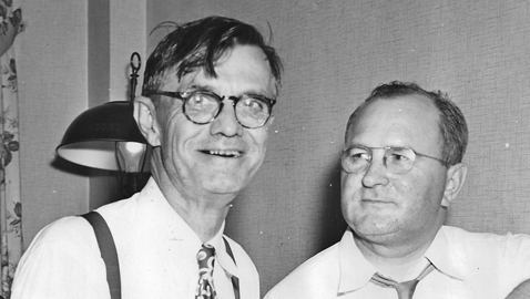 From the author's personal collection. Governor-elect Eugene Talmadge (left) and his campaign manager, Roy Harris in 1946.