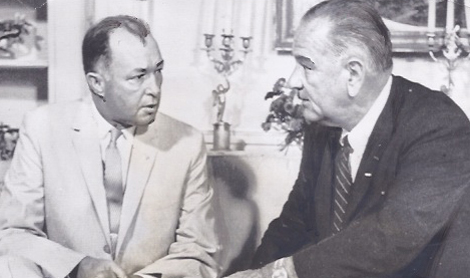 From the author's personal collection. Governor Buford Ellington (left) with his friend President Lyndon B. Johnson