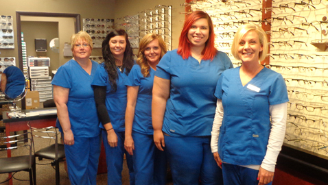 """Our greatest asset is our friendly, knowledgeable optometry staff,"" says Kristy Chapman (right). Her staff will welcome you to The Eye Group at 7220 Chapman Highway. The staff includes (right to left) Janet, Megan, Linda, Meagan and Patty (not pictured)."