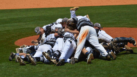 PHOTO BY TINA ADKINS Grace Christian Academy celebrates the TSSAA Class A state baseball championship  with the traditional dogpile in Murfreesboro Friday. It was the school's first-ever state  team title.