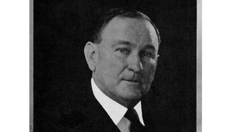 From the author's personal collection. Formal portrait of Senate Majority Leader Joe T. Robinson, circa 1932.