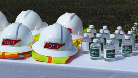 TDOT helmets and First State Road Water