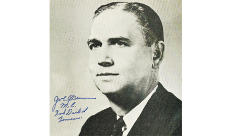 Photo from the author's personal collection. Autographed photo of Congressman John J. Duncan, circa 1973.