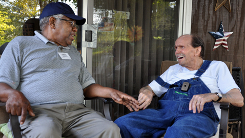 Senior Companion volunteers provide meaningful support to elderly homebound.
