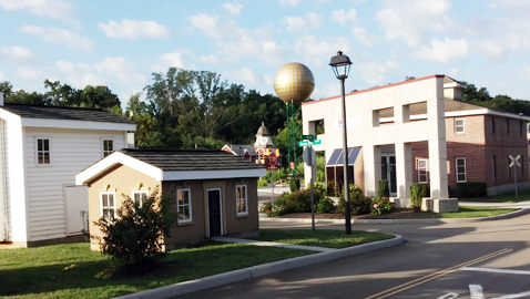 Photo by Mike Steely. Knoxville's Safety City has child-size replicas of area landmarks as well as a miniature residential neighborhood.