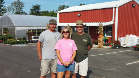 Photo by Mike Steely. The Kirby family has opened Kirby Plants on Oak Ridge Highway, continuing a family tradition that dates back to the 1940's. Pictured, right to left, are Scott, Martha and Tony Kirby who invite you to stop by their new location.
