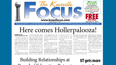 The Knoxville Focus for September 21, 2015