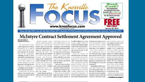 The Knoxville Focus for January 25, 2016