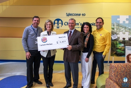 Burger King donates more than $18,000 to Children's Hospital