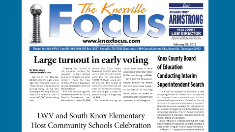 The Knoxville Focus for February 29, 2016