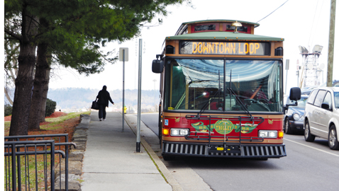 Trolley service cut back for Summit Towers