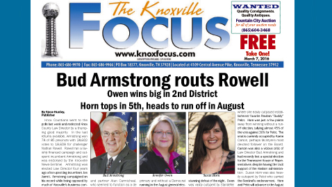 The Knoxville Focus for March 7, 2016