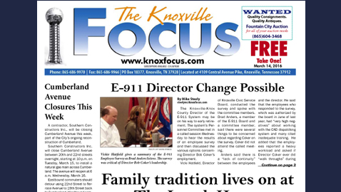 The Knoxville Focus for March 14, 2016