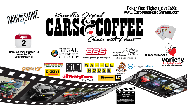 Cars & Coffee and Poker Run on April 2