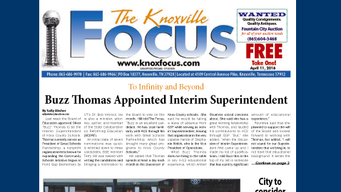 The Knoxville Focus for April 11, 2016