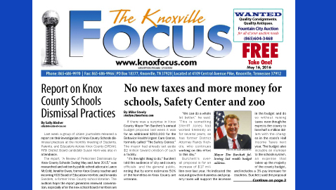 The Knoxville Focus for May 16, 2016