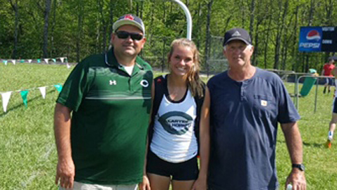 Reynolds, Carter pentathlete, makes first reservation for state