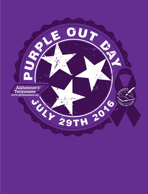 "Second Annual Statewide ""Purple Out Day"" to support Alzheimer's Tennessee is Friday"