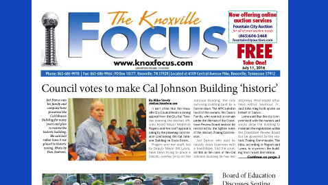 The Knoxville Focus for July 11, 2016