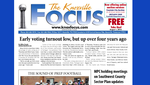The Knoxville Focus for August 1, 2016