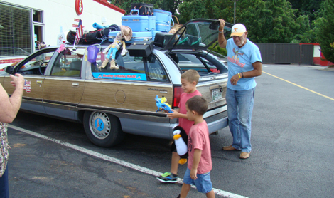 Smile after smile, Family Truckster is rolling again
