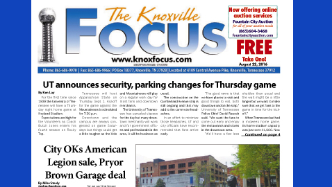 The Knoxville Focus for August 22, 2016