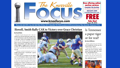 The Knoxville Focus for August 29, 2016